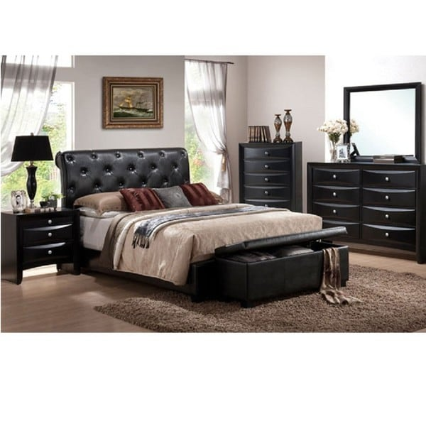 Vegas 5 Piece California King Size Bedroom Set Free