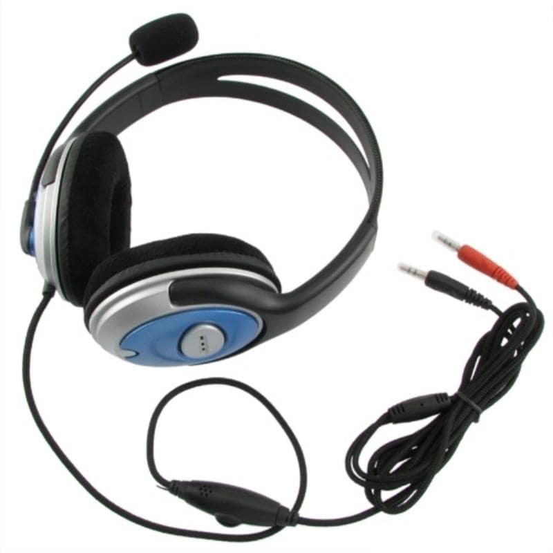 INSTEN VOIP/ SKYPE Black Handsfree Stereo Headset with Foam Ear-pads