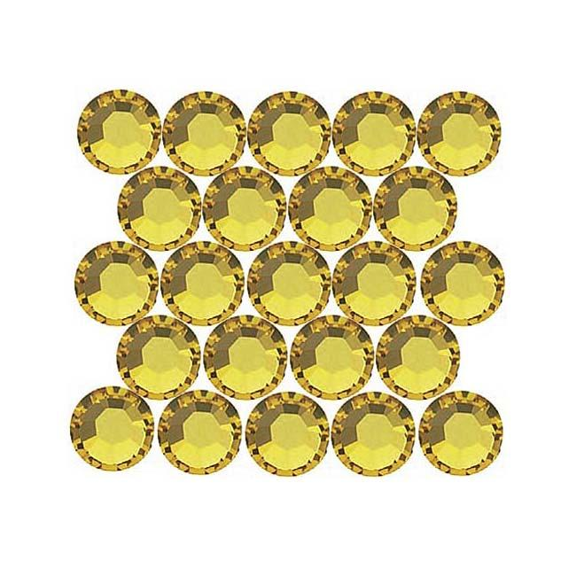 Beadaholique Light Topaz ss16 Crystal Flatback Rhinestones (Pack of 50)