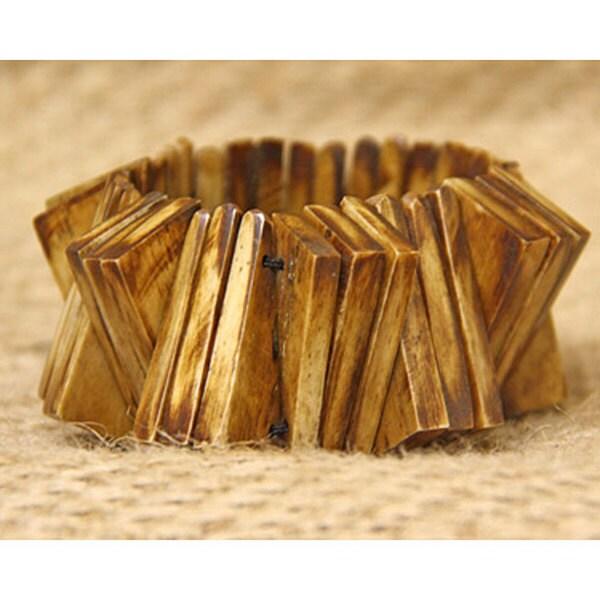 Cow Bone Inter-triangle Bracelet (Kenya)