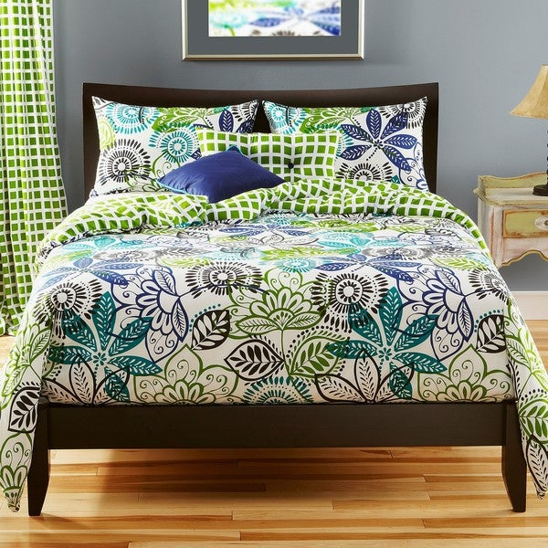 Bali Reversible Full-size 6-piece Duvet Cover Set