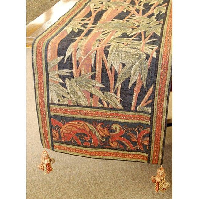 Corona Decor Italian Woven Tropical Table Runner