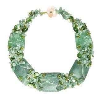 Shop Handmade Chunky Jade And Seashells Link Toggle