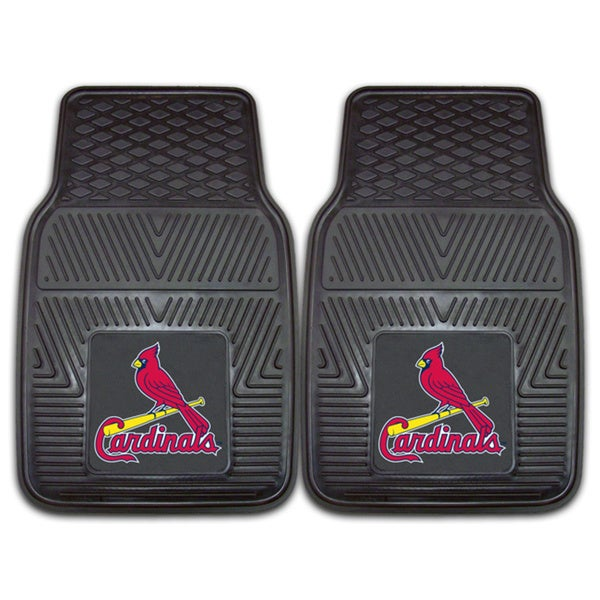 shop fanmats st louis cardinals 2 piece vinyl car mats. Black Bedroom Furniture Sets. Home Design Ideas