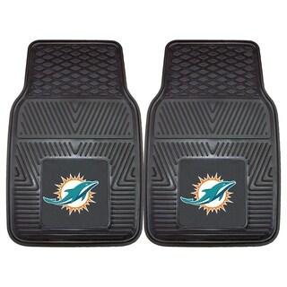 Fanmats Miami Dolphins 2-piece Vinyl Car Mats
