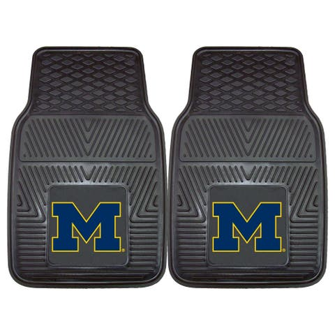 "University of Michigan 2 Piece Vinyl Car Mat Set 17""x27"""