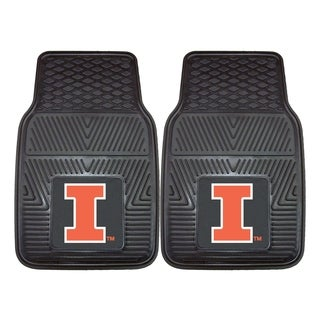 Fanmats Illinois 2-piece Vinyl Car Mats