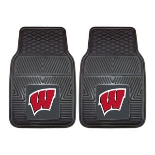 Fanmats Wisconsin 2-piece Vinyl Car Mats