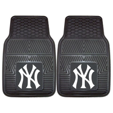 "MLB - New York Yankees 2 Piece Vinyl Car Mat Set 17""x27"""