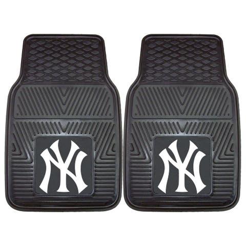 "MLB - New York Yankees 2 Piece Vinyl Car Mat Set 17""x27"""