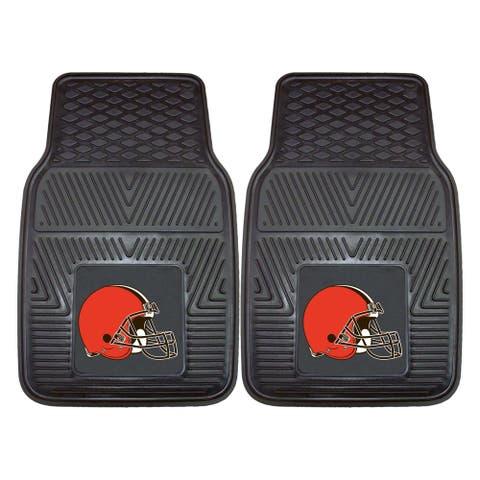 """NFL - Cleveland Browns 2 Piece Vinyl Car Mat Set 17""""x27"""""""
