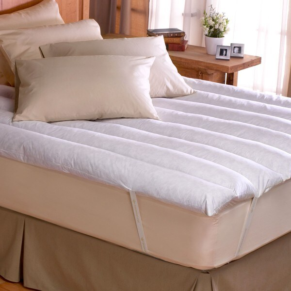 Minifeather Twin/ Full-size Featherbed with Secure Anchor Bands