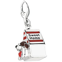 Sterling Silver 3D Doghouse Charm
