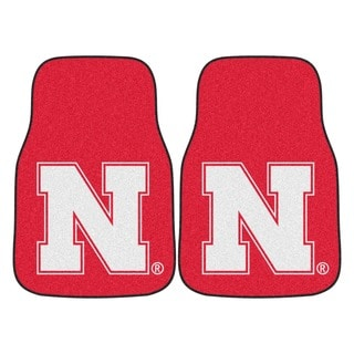 Fanmats Nebraska 2-piece Carpeted Nylon Car Mats