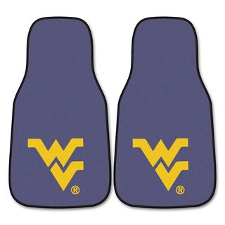 Fanmats West Virginia 2-piece Carpeted Nylon Car Mats