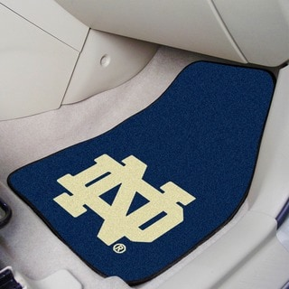Fanmats Notre Dame 2-piece Carpeted Nylon Car Mats