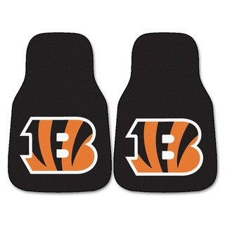 Fanmats Cincinnati Bengals 2-piece Carpeted Nylon Car Mats