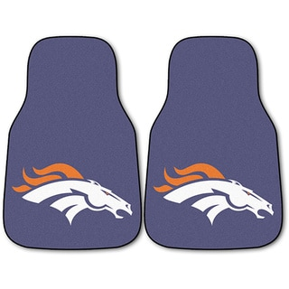 Fanmats Denver Broncos 2-piece Carpeted Nylon Car Mats