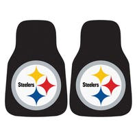 Fanmats Pittsburgh Steelers 2-piece Carpeted Nylon Car Mats