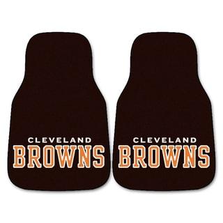 Fanmats Cleveland Browns 2 Piece Carpeted Car Mats