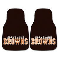 Fanmats Cleveland Browns 2-piece Carpeted Car Mats