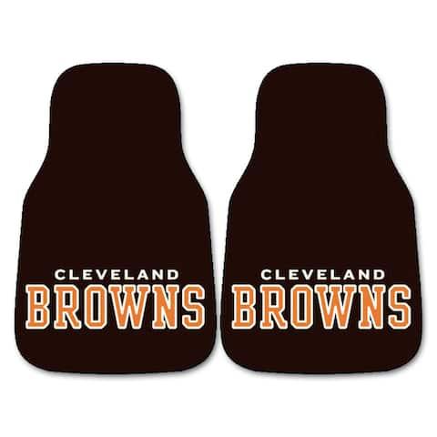 Fanmats Cleveland Browns 2-piece Carpeted Car Mats