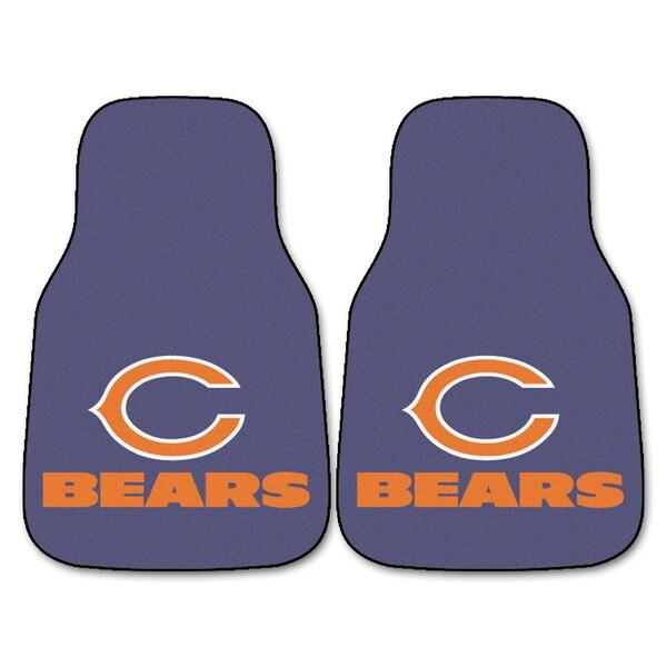 Fanmats Chicago Bears 2-piece Carpeted Nylon Car Mats