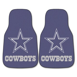 Fanmats Dallas Cowboys 2-piece Carpeted Car Mats