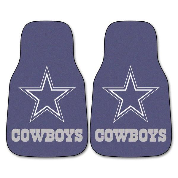 Fanmats Dallas Cowboys 2-piece Carpeted Car Mats