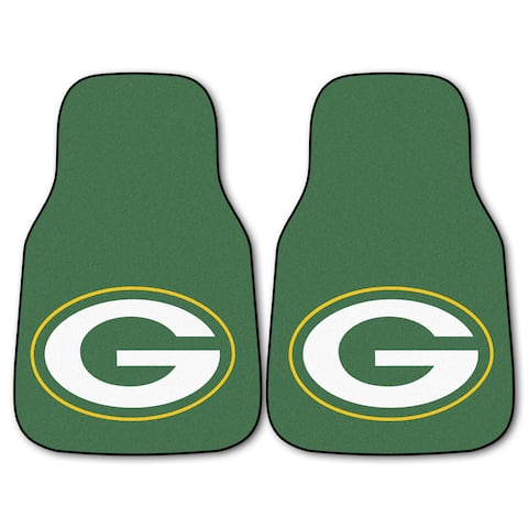 Fanmats Green Bay Packers 2-piece Carpeted Car Mats