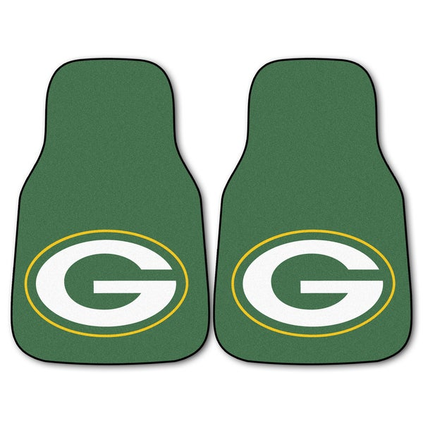 Fanmats Green Bay Packers 2-piece Carpeted Car Mats