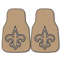 Fanmats New Orleans Saints 2-piece Carpeted Car Mats