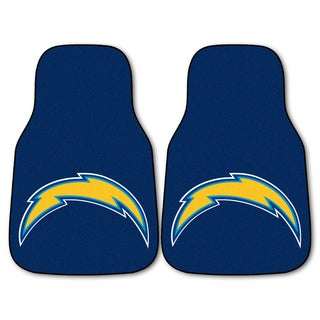 Fanmats San Diego Chargers 2-piece Carpeted Car Mats