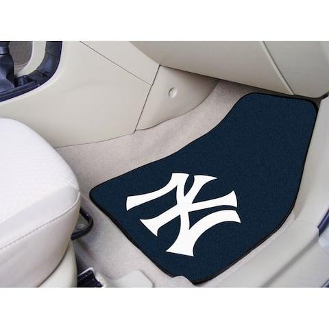 Fanmats New York Yankees 2-piece Carpeted Nylon Car Mats