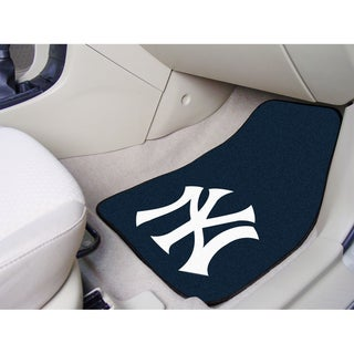 Fanmats New York Yankees 2-piece Carpeted Nylon Car Mats