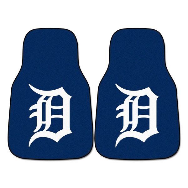 Fanmats Detroit Tigers 2-piece Carpeted Car Mats