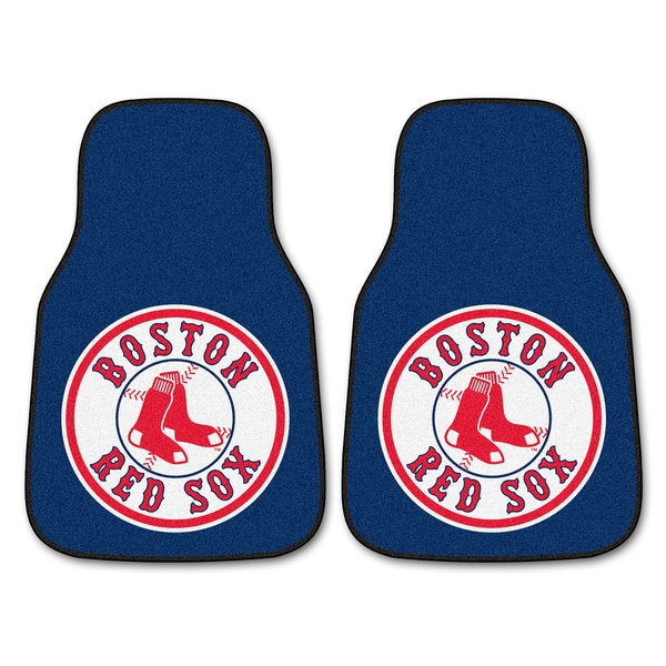 Fanmats Boston Red Sox 2-piece Carpeted Nylon Car Mats