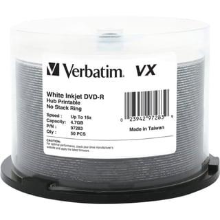 Verbatim DVD-R 4.7GB 16X VX White Inkjet Printable, Hub Printable - 5