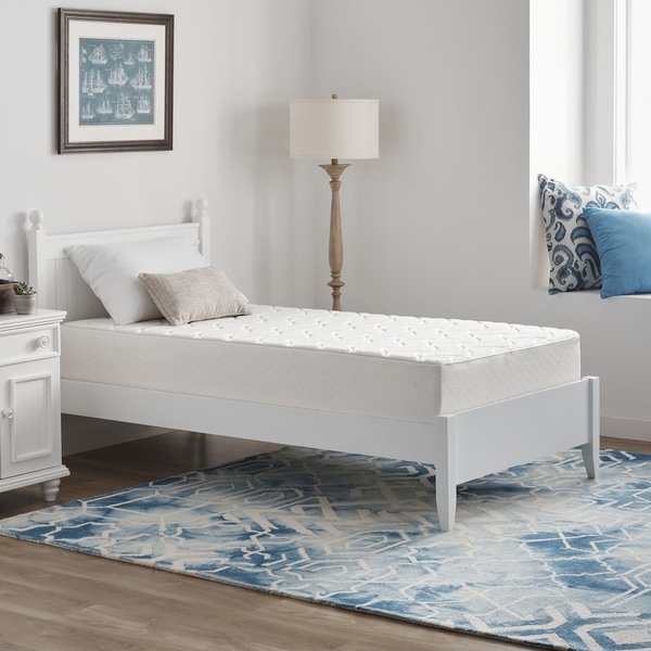 Twin-size 10-inch Quilted Rayon Knit Memory Foam Mattress
