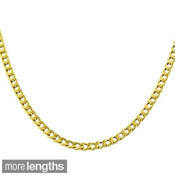 Fremada 10k Yellow Gold Curb Chain Necklace (16-18 inches)