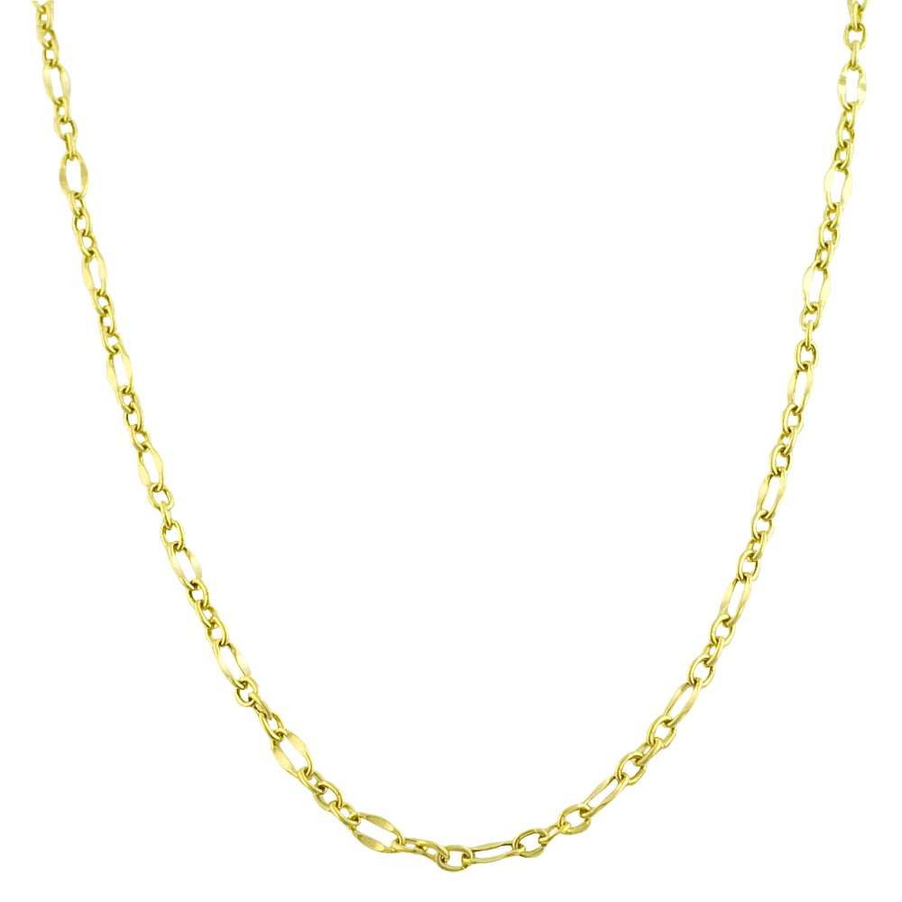 Fremada 10k Yellow Gold Flat Oval Link Necklace