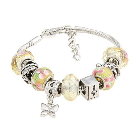La Preciosa Glass Bead and Charms Bracelet