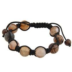 La Preciosa Brown Bead Macrame Bracelet