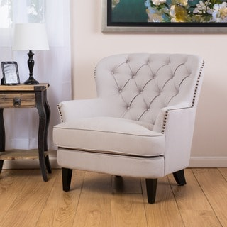 Christopher Knight Home Tafton Tufted Natural Fabric Club Chair