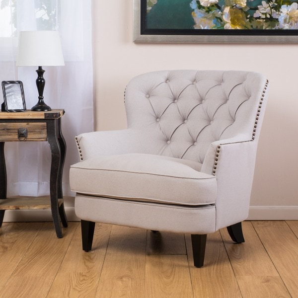 Merveilleux Christopher Knight Home Tafton Tufted Natural Fabric Club Chair