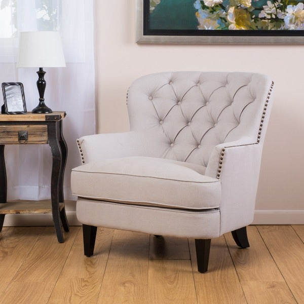 Exceptionnel Christopher Knight Home Tafton Tufted Natural Fabric Club Chair