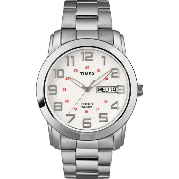 Timex T2N4379J Men's Elevated Classics Sport Chic Stainless Steel Bracelet Watch