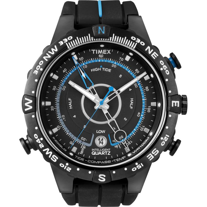 Timex Men's T49859 Intelligent Quartz Adventure Series Tide Temp Compass Watch - Thumbnail 1