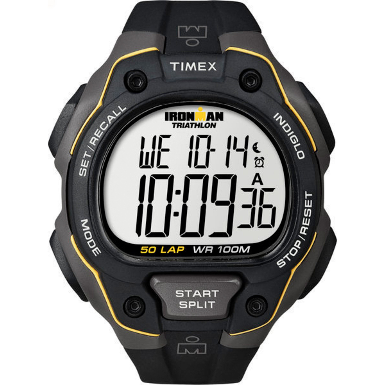 Timex Men's T5K494 Ironman Traditional 50-Lap Black/Grey/...