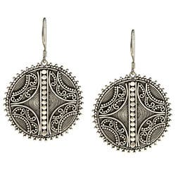 Kabella Lily B Sterling Silver Antiqued Spiral Circle Earrings|https://ak1.ostkcdn.com/images/products/6045438/Kabella-Lily-B-Sterling-Silver-Antiqued-Spiral-Circle-Earrings-P13723755.jpg?impolicy=medium